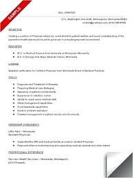Physician Resume Sample Inspiration Medical Doctor Resume Examples Sample Resumes Letsdeliverco