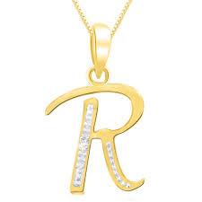 sparkles gold diamond alphabet r pendant gold pendants home18