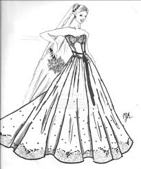 Small Picture Wedding Dress Coloring Pages