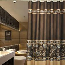 upscale shower curtains vintage coffee patterned luxury 1