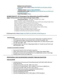 Pcb Design Engineer Resume Format Spacedesignagency Co