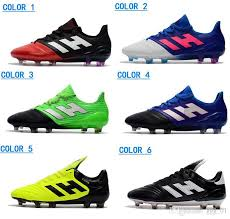 2018 hot ace 17 1 leather fg men s soccer shoes outdoor soccer cleats new male football shoes new arrive mens ace 17 1 football cleats