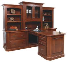 buckingham office partner desk and three piece hutch traditional desks and hutches