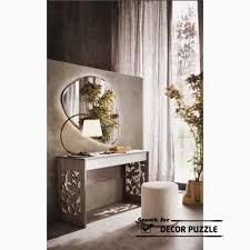 modern wooden dressing table designs with mirror lights