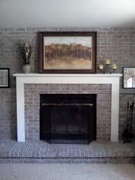 glass door brick stain fireplace screen