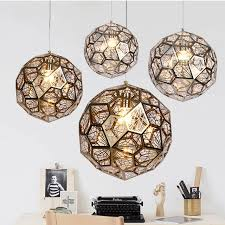 craft metal lighting. Post-Modern Craft Cord Pendant Light Hollow Stainless Steel Ball Lamp E27 Fixture Cafe Metal Lighting W