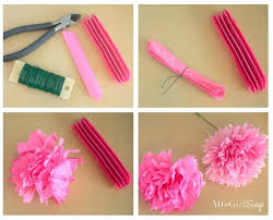 Tissue Paper Flower How To Make How To Make Tissue Paper Flowers Atta Girl Says