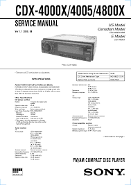 sony cdx 4000x wiring diagram wiring diagram and schematic sony cdx ca737x r service manual schematics eeprom