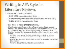 Apa literature review headings