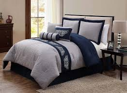 navy blue and grey comforter set more