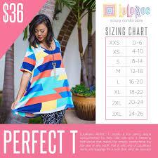 Lularoe Perfect T Sizing Guide And Price Lularoe Perfect