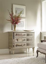 Mirrored Living Room Furniture Living Room Accents 3 Drawer Antique Mirrored Chest By Hamilton