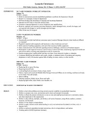 Yard Worker Sample Resume Yard Worker Resume Samples Velvet Jobs 1