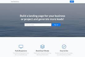 Bootstrap Landing Page Design Landing Page Free Bootstrap 4 Landing Page Theme Start