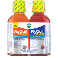 Vicks Dayquil And Nyquil Severe Cold Flu Nighttime Relief Liquid 24 Oz