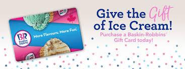 Gift Certificates | Baskin Robbins Canada