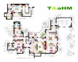 Floor Plans From Some Of Your Favorite Television Showu0027s Tv House Floor Plans