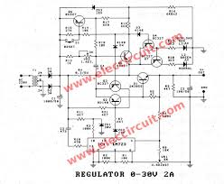 variable voltage regulator circuit diagram the wiring diagram 0 30v 0 2a adjustable voltage and current regulator electronic circuit