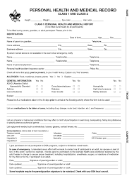 Sample Bsa Medical Form