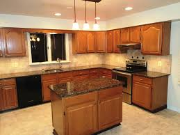 kitchen color ideas with oak cabinets and black appliances. Oak Cabinets With Black Appliances | Kitchen Color Ideas And Pergola R