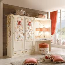 closet ideas for girls. Decorations:Cute Girls Wardrobe Closet Style With Flower Pattern Door Also Round Stools Plus Ideas For
