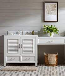 This bathroom vanity set features a unique contemporary design, with clean lines, and sleek, modern finishes. Makeup Vanity Tables Bathroom Makeup Vanity Makeup Sink Vanity