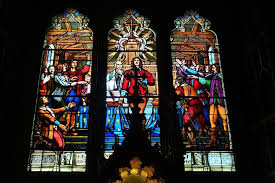 stained glass window basilique notre dame montreal