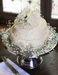 How Amazing Is This Homemade Two Tier Buttercream Wedding Cake