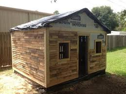 pallet shed. this re-transformed wood pallet shed project gives a right and reliable residential place. it is simple decent craft being constructed in low budget