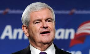 In America, an ageing Newt Gingrich is acclaimed because he launches his presidential bid on Twitter. David Cameron takes a question from Twitter in a town ... - Newt-Gingrich--007