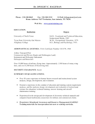 Pilot Resume Template Resume Template Ideas