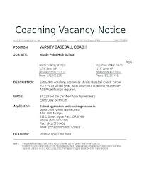 How To Write A Cover Letter For A Coaching Job Football Cover Letter Examples Cover Letter For Coaching Position