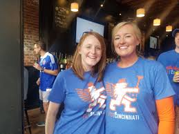 """Bobbi Dillon on Twitter: """"Cheering on @fccincinnati w/ @HollyStutzSmith,  about to put out the Chi Fire with our FD Cinci gear from @IAFFLocal48.  #FCC #putoutthefire… https://t.co/rlyeU3LMnB"""""""