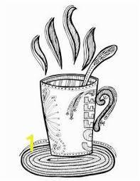 Coffee Mug Coloring Page Zabelyesayancom