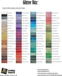 Glitter Ritz Micro Fine Color Chart Www Inthemaking Ca