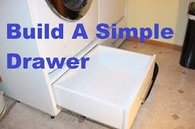 diy washer dryer pedestal with drawers. Unique Pedestal Build A Simple Drawer For Diy Washer Dryer Pedestal With Drawers R