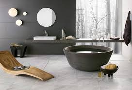black round bath stone look