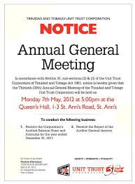 Meeting Announcement Template Notice Of Meeting Template Annual General Extraordinary Agm
