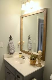 wooden frame bathroom mirror diy bathroom mirror frame