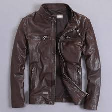 2019 <b>Mens</b> Leather Jacket Sheepskin Coat <b>Genuine Leather</b> Jacket ...