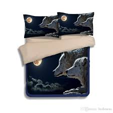 moon black wolf printing bedding sets twin full queen king size with regard to attractive home black duvet covers designs