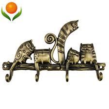 Cat Coat Rack Free shipping CartoonCoat rack hook catwedding decoration metal 9