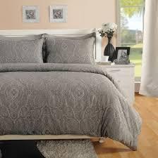 grey paisley duvet cover king