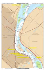 Army Corps Of Engineers Lower Mississippi River Navigation Charts Chart 81 Mississippi River Miles 458 452 Us Army Corps