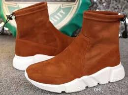 5a quality 3115180 sd trainers shoes suede leather stretch fabric ankle boots size 34 40 dhl cowgirl boots mens dress boots from iceyu