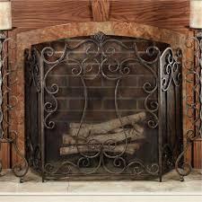 delightful single panel fireplace screen with doors doors design modern plus decorative wrought iron fireplace screens photos