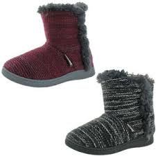 Mukluks Slipper Boots Size Chart Details About Muk Luks Cheyenne Womens Short Knit Sweater Bootie Slippers House Shoes