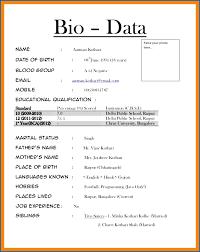 14 Biodata Format For Teacher Job Sweep18