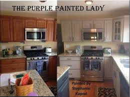 kitchen cabinets painted white before and afterKitchen Painted Cabinets Before And After Paint Painting Redtinku