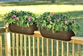 railing flower box deck boxes planter ideas for decks18